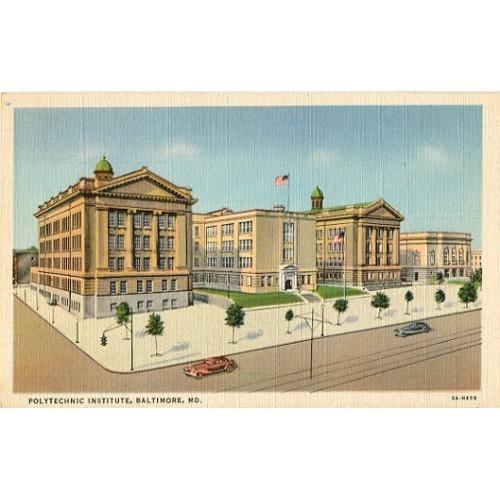Linen Postcard. Polytechnic Institute, Baltimore, Md.