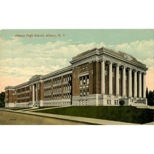 Divided Back Postcard. Albany High School, Albany, N.Y.
