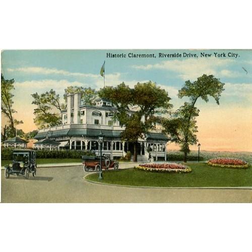 Divided Back Postcard. Historic Claremont, Riverside Drive, New York City