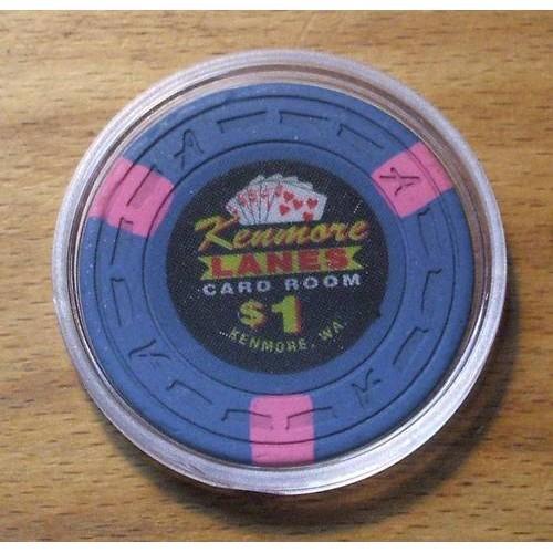 Kenmore Lanes $1. CASINO CHIP - Card Room - Kenmore, WA - Shipping Discounts
