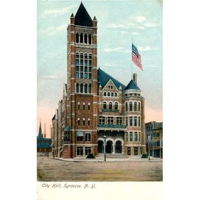 Undivided Back Postcard. City Hall, Syracuse, N.Y.