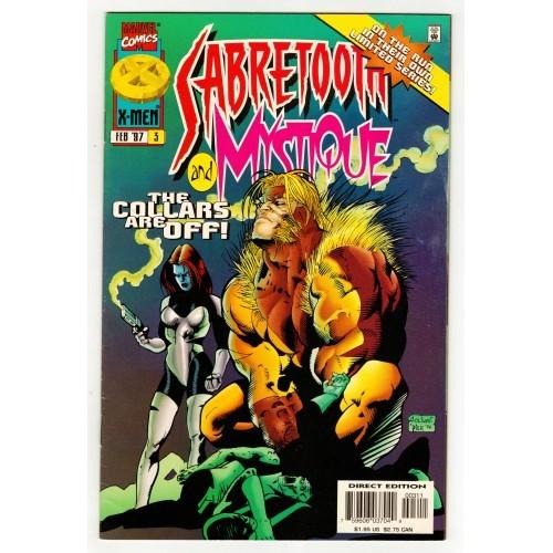 1997 Mystique And Sabretooth Comic # 3 – VF+