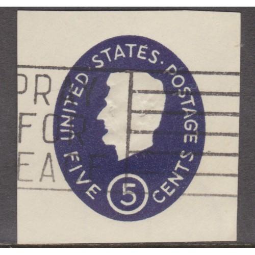 USED SCOTT #U544 (1962) CUT ENVELOPE SQUARE