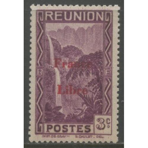 1943  REUNION  3 c.  France Libre overprint  mint**,  Scott # 183