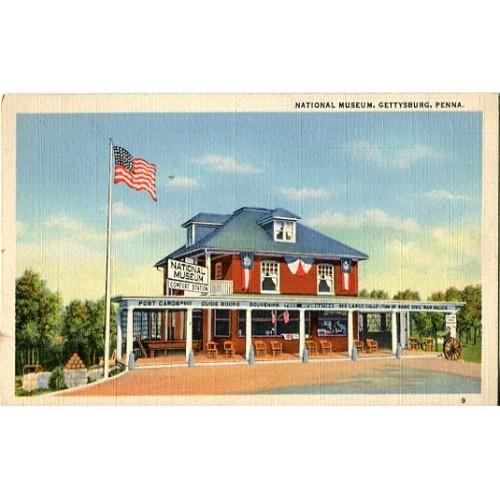 Linen Postcard. National Museum, Gettysburg, Penna.