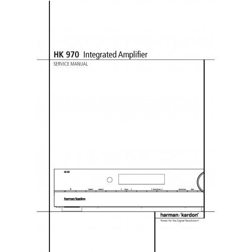 Harman Kardon HK-970 Amplifier  Service Manual