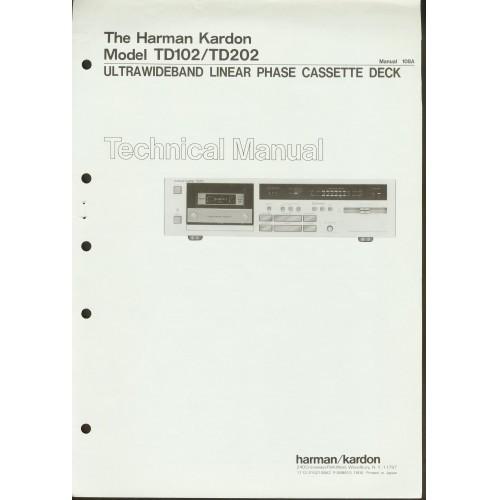 Harman Kardon TD-102/202 Cassette Deck  Service Manual
