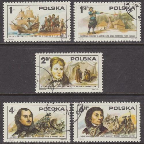 USED (CTO) POLAND #2117-2121 (COMPLETE 1975 SET)
