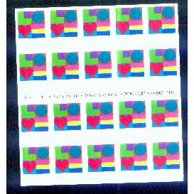 US, Scott# 3657, thirty-seven cent Love sheet of 20 stamps