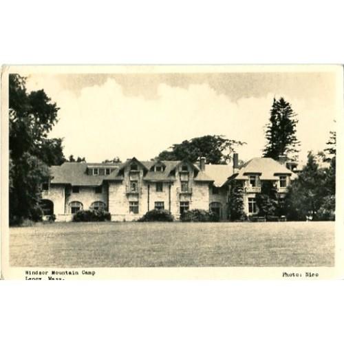 Real Photo Postcard. Windsor Mountain Camp, Lenox, Mass.