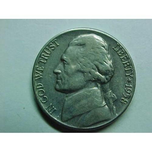 1958-D Jefferson Nickel