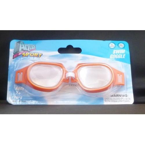 Aqua Sport Childs Orange Swim Goggle