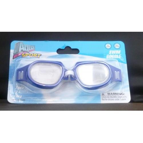 Aqua Sport Childs Blue Swim Goggle With Oversized Eye Cups