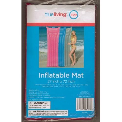 True Living Adults Pink Inflatable Swim Mat