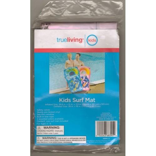 True Living Kids Inflatable Pink Multi Color Surf Mat