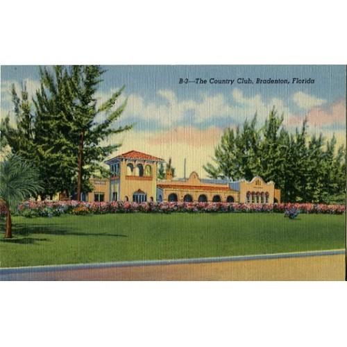Linen Postcard. The Country Club, Bradenton, Florida