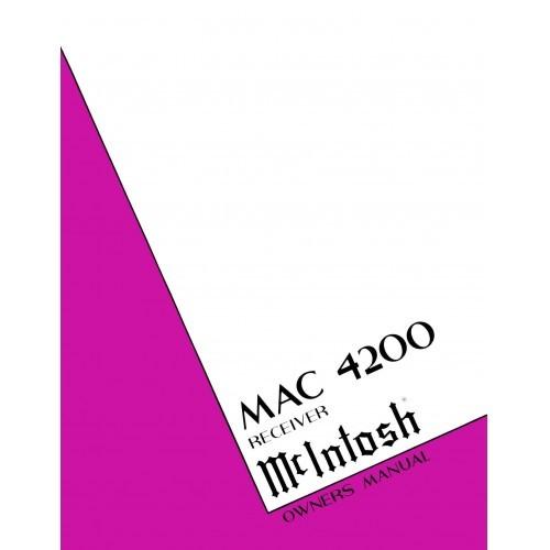 McIntosh MAC-4200 Receiver - Owners Manual