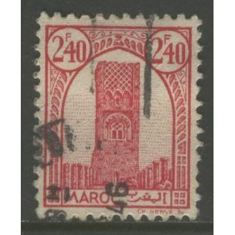 1943  French Morocco  2.40. Tower of Hassan, Rabat  used,  Scott # 189