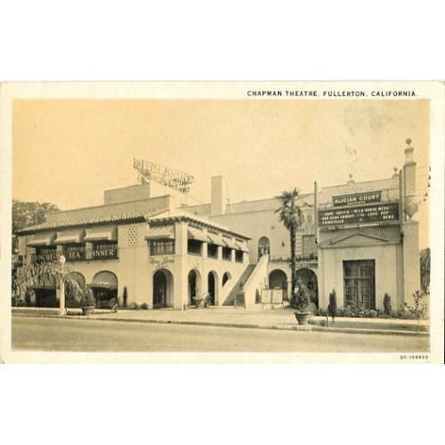 Printed Photo Card. Chapman Theatre, Fullerton, California