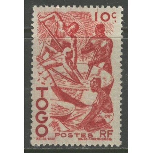 1947  TOGO  10 c.  Extracting Palm Oil    mint*,  Scott # 309