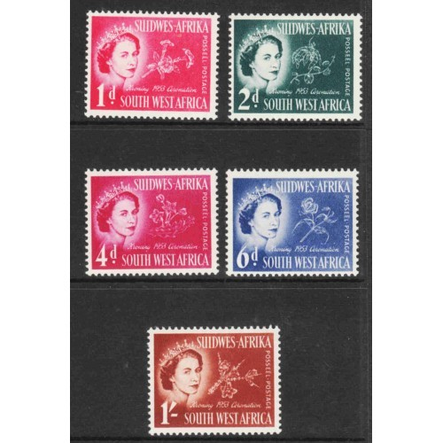 South West Africa - Scott #244-48 MH (2)