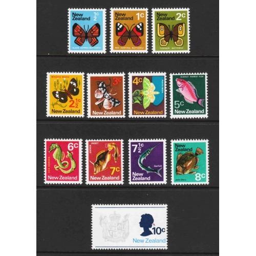 New Zealand - Scott #438-49 MNH (1)