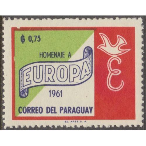 UNUSED PARAGUAY #624 (1961)