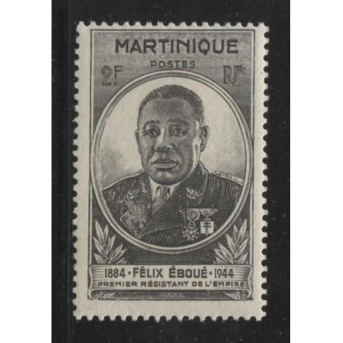 1945  MARTINIQUE   2 Fr.  Eboue issue  mint*,  Scott # 196