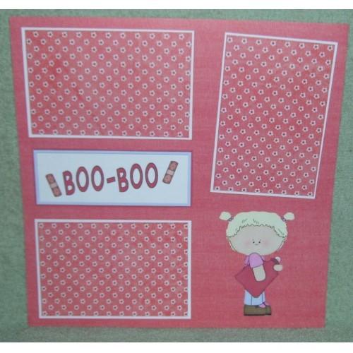 """Boo Boo Girl""- Premade Scrapbook Page 12x12"