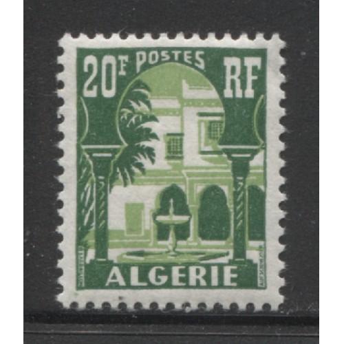 1957  FRENCH ALGERIA  20 Fr.  Patio of Bardo Museum  mint*,  Scott # 270