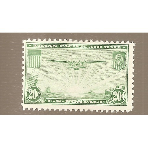US  # C-21 MINT HINGED 20 cent GREEN  M 921