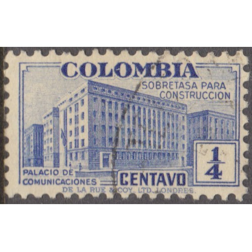 USED COLOMBIA #RA8 (1940)