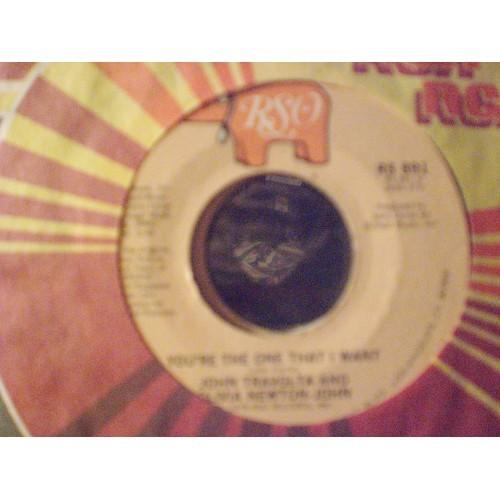 45 RPM: #635.. JOHN TRAVOLTA & OLIVIA NEWTON-JOHN - YOU'RE THE ONE THAT I WANT &