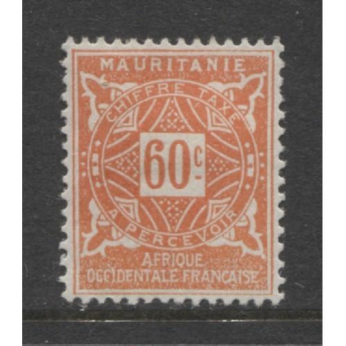 1914  MAURITANIA    60 c.  postage due  issue   mint*,  Scott # J15