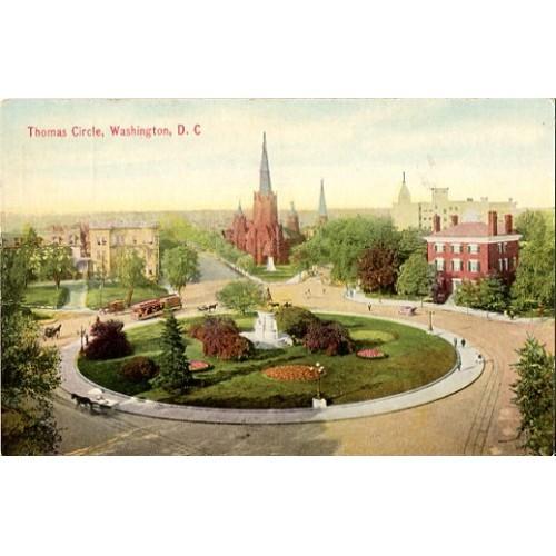 Divided Back Postcard. Thomas Circle, Washington, D.C.