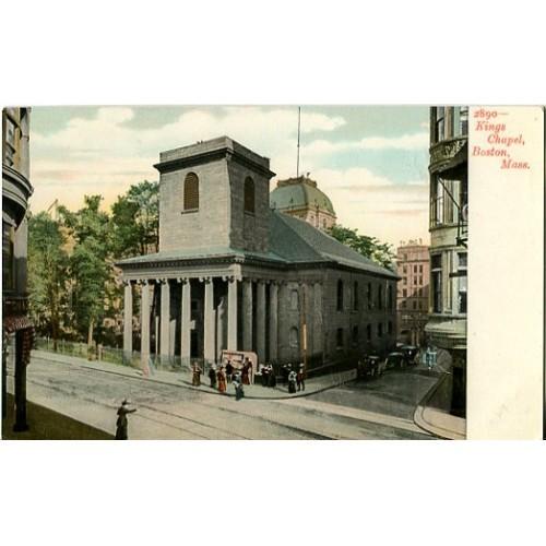 Undivided Back Postcard. Kings Chapel, Boston, Mass.