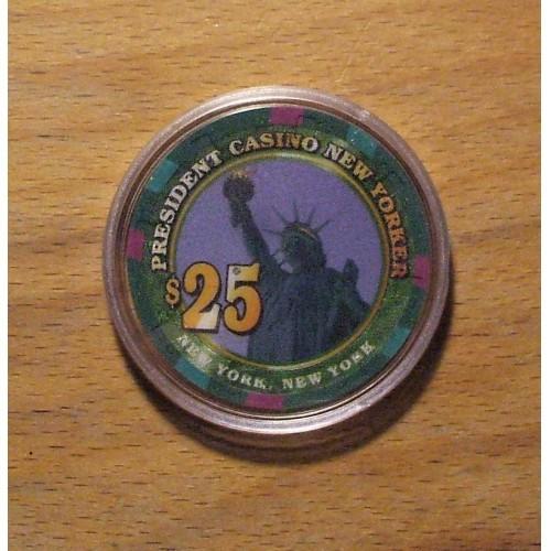 President $25. Casino Chip - New Yorker - New York