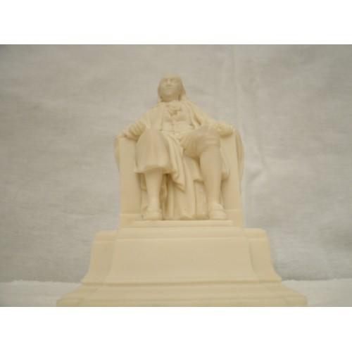 The Benjamin Franklin National Memorial  MINI White Polyresin Statue