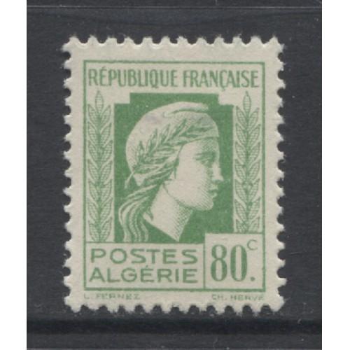 1944  FRENCH ALGERIA  80 c.  Marianne issue   mint*,  Scott # 176
