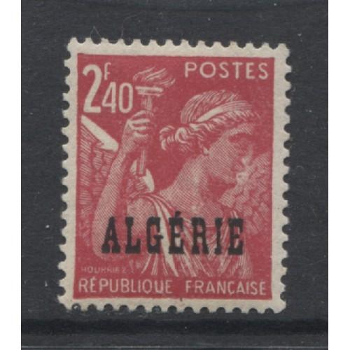 1945  FRENCH ALGERIA  2.40 Fr.  Iris issue   mint*,  Scott # 195