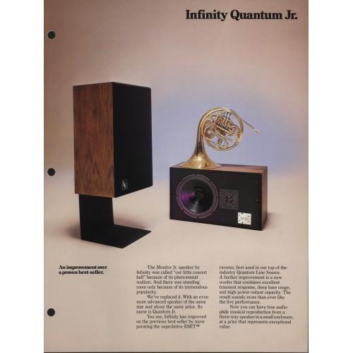 Infinity - Model Quantum Jr. Speaker - Sales Brochure