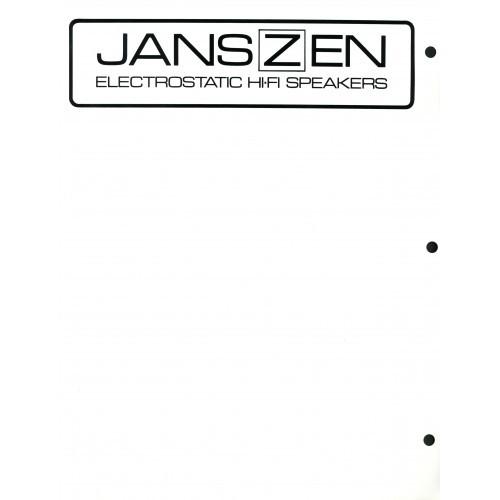 Janszen - Electrostatic Speakers Old/New Series - Sales Brochure