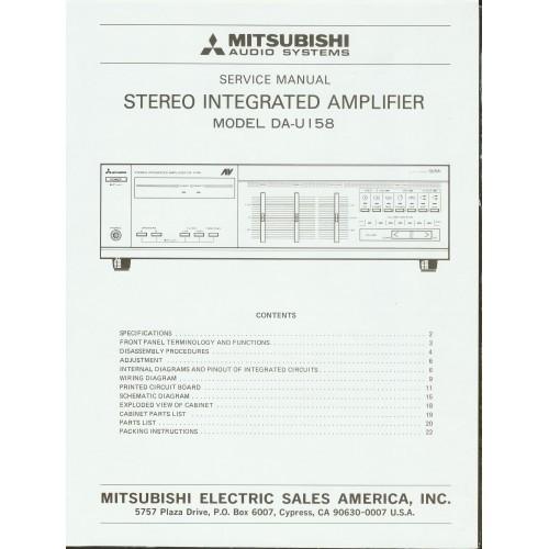 Mitsubishi - Model DA-U158 Amplifier - Service Manual
