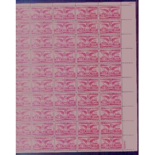 US, Scott# C40, six cent Alexandria Bicentennial sheet of 50 stamps