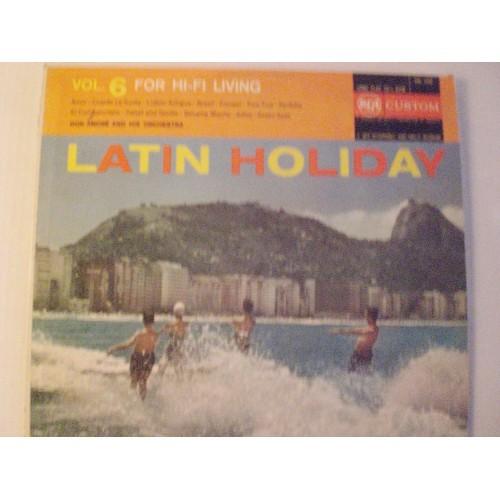 33 RPM:  #45 DON AMORE - LATIN HOLIDAY / RCA CUSTOM RAL 1006 / VG+