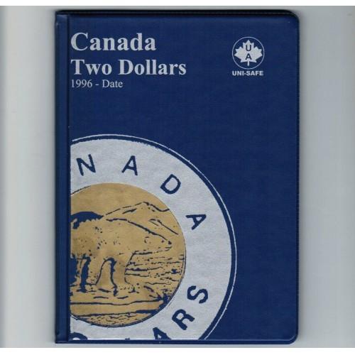 Uni-Safe Canada 2 Dollar Toonie Coin Album Folder 1996-Date