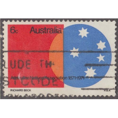 USED AUSTRALIA #496 (1971)