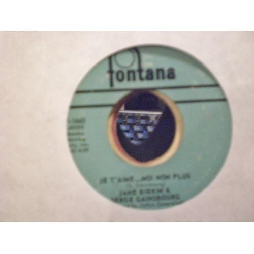 45 RPM: #1558.. JANE BIRKIN and SERGE GAINSBOURG - JE T'AIME ... MOI NON PLUS &