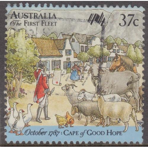 USED AUSTRALIA #1028a (1987)