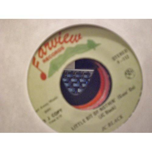 45 RPM: #1602.. JC BLACK - LITTLE BIT OF NOTHIN' (MONO & STEREO) FAIRVIEW F-112